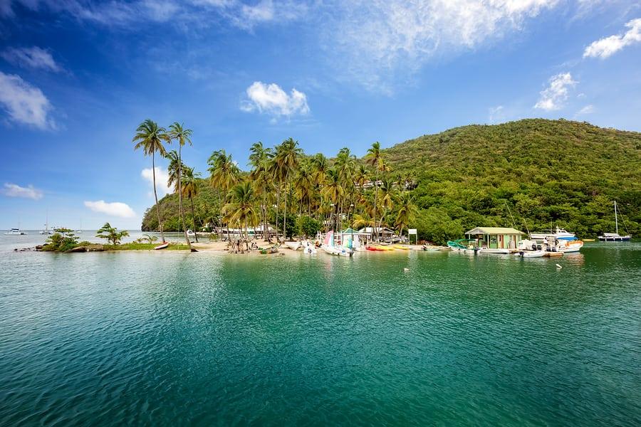 Marigot Bay Saint Lucia Caribbean